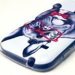 Gloss gélový kryt pre Samsung Galaxy S3 mini - buldog - 3/4
