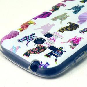 Gloss gélový kryt pre Samsung Galaxy S3 mini - mačičky - 3