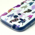 Gloss gélový kryt pre Samsung Galaxy S3 mini - mačičky - 3/4