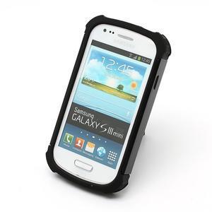 Outdoor odolný obal pre mobil Samsung Galaxy S3 mini - čierný - 3