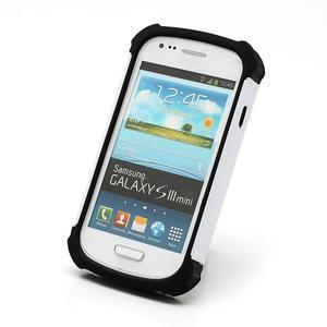Outdoor odolný obal pre mobil Samsung Galaxy S3 mini - biely - 3