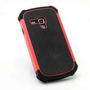 Outdoor odolný obal pre mobil Samsung Galaxy S3 mini - červený - 3