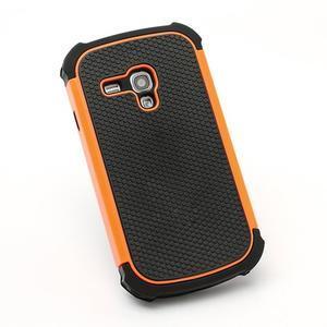 Outdoor odolný obal pre mobil Samsung Galaxy S3 mini - oranžový - 3