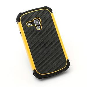 Outdoor odolný obal pre mobil Samsung Galaxy S3 mini - žltý - 3