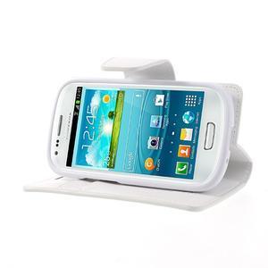 Diary PU kožené pouzdro na Samsung Galaxy S3 mini - bílé - 3