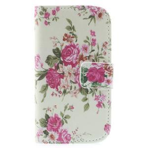Knížkové pouzdro na mobil Samsung Galaxy S3 mini - květinová koláž - 3