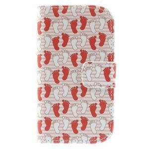 Knížkové puzdro pre mobil Samsung Galaxy S3 mini - tlapky - 3
