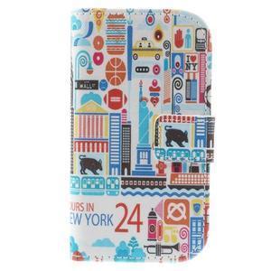 Knížkové puzdro pre mobil Samsung Galaxy S3 mini - New York - 3