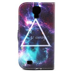 Standy peňaženkové puzdro pre Samsung Galaxy S4 - triangl - 3
