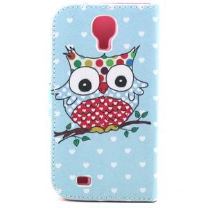Standy peňaženkové puzdro pre Samsung Galaxy S4 - sova - 3