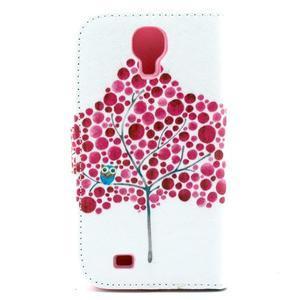 Standy peňaženkové puzdro pre Samsung Galaxy S4 - soví strom - 3