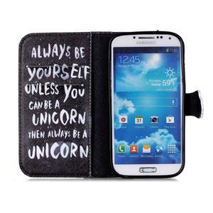 Emotive knížkové puzdro pre Samsung Galaxy S4 - unicorn - 3