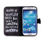 Emotive knížkové puzdro pre Samsung Galaxy S4 - unicorn - 3/6