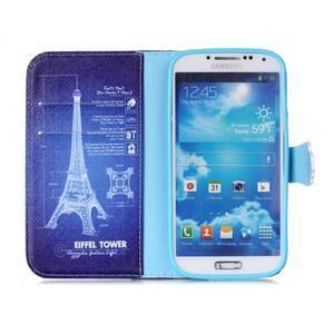 Emotive knížkové puzdro pre Samsung Galaxy S4 - Eiffelova veža - 3