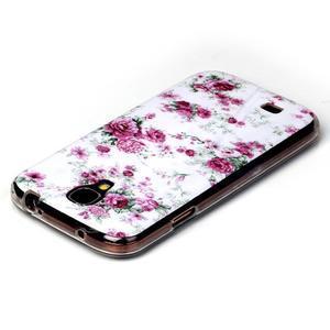 Softy gélový obal pre mobil Samsung Galaxy S4 - kvety - 3