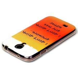 Softy gélový obal pre mobil Samsung Galaxy S4 - drink - 3