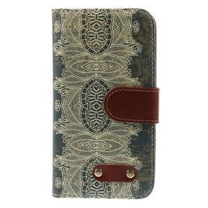 Elegant peněženkové pouzdro na Samsung Galaxy S4 - retro květina - 3