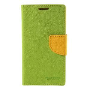 Sunny PU kožené puzdro pre mobil Samsung Galaxy S4 - zelené - 3