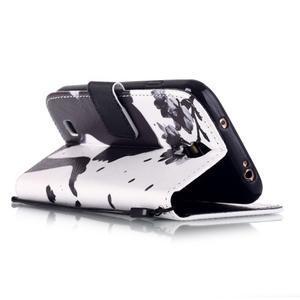 Knížkové koženkové pouzdro na Samsung Galaxy S4 - dívka - 3