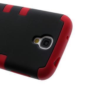 Extreme odolný gelový obal 2v1 na Samsung Galaxy S4 - červený - 3