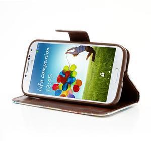 Kvetinové puzdro pre mobil Samsung Galaxy S4 - biele pozadie - 3