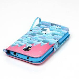 Knížkové koženkové pouzdro na Samsung Galaxy S4 - snowman - 3
