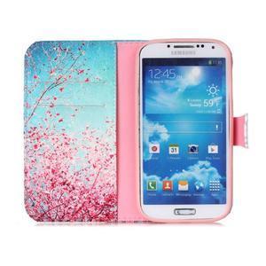 Emotive peněženkové pouzdro na Samsung Galaxy S4 mini - kvetoucí švestka - 3