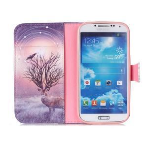 Emotive peňaženkové puzdro pre Samsung Galaxy S4 mini - mystický jelen - 3