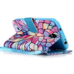Diary peňaženkové puzdro pre mobil Samsung Galaxy S4 mini - farebné lístky - 3