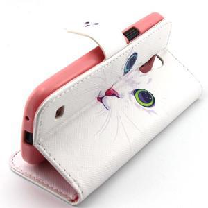Diaryleather pouzdro na mobil Samsung Galaxy S4 mini - kočička - 3