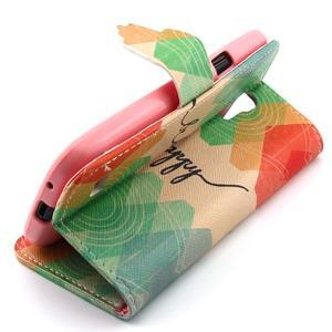 Diaryleather puzdro pre mobil Samsung Galaxy S4 mini - be happy - 3