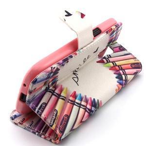 Diaryleather puzdro pre mobil Samsung Galaxy S4 mini - smile - 3