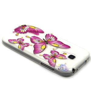 Transparentný gélový obal pre Samsung Galaxy S4 mini - motýle - 3
