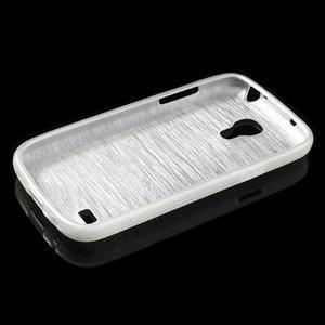 Brushed gelový obal na mobil Samsung Galaxy S4 mini - bílý - 3