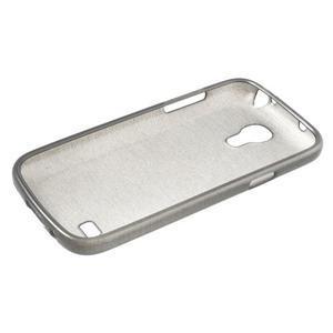 Brushed gelový obal na mobil Samsung Galaxy S4 mini - šedý - 3