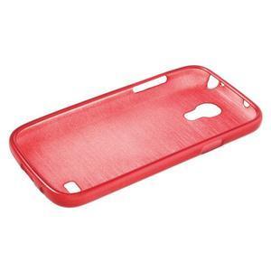 Brushed gélový obal pre mobil Samsung Galaxy S4 mini - červený - 3