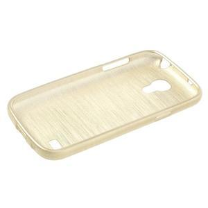 Brushed gélový obal pre mobil Samsung Galaxy S4 mini - zlatý - 3