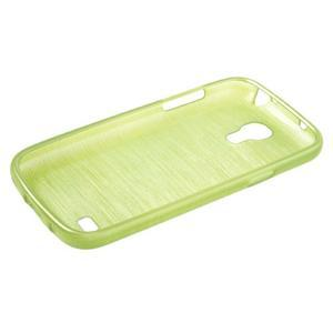 Brushed gelový obal na mobil Samsung Galaxy S4 mini - zelený - 3