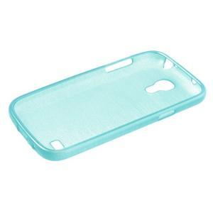 Brushed gélový obal pre mobil Samsung Galaxy S4 mini - modrý - 3
