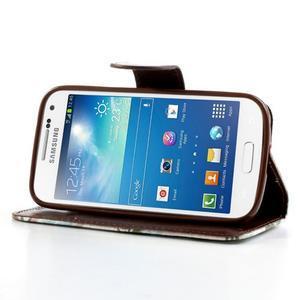Květinkové pouzdro na mobil Samsung Galaxy S4 mini - bílé pozadí - 3