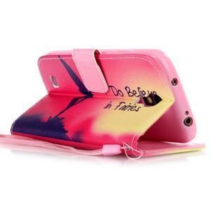 Diary peňaženkové puzdro pre mobil Samsung Galaxy S4 mini - víla - 3