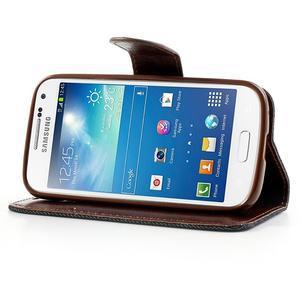 Jeans stylové pouzdro na mobil Samsung Galaxy S4 mini - černomodré - 3