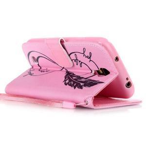Diary peňaženkové puzdro pre mobil Samsung Galaxy S4 mini - love - 3