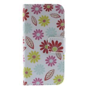 Style peňaženkové puzdro pre Samsung Galaxy S4 mini - kvetinky - 3