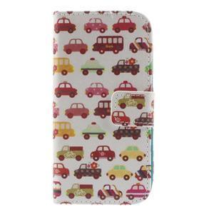Style peňaženkové puzdro pre Samsung Galaxy S4 mini - autíčka - 3
