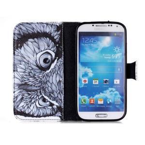 Emotive peňaženkové puzdro pre Samsung Galaxy S4 mini - sova - 3
