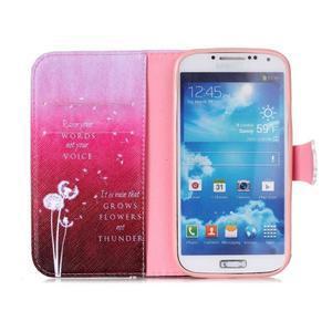 Emotive peňaženkové puzdro pre Samsung Galaxy S4 mini - púpavy - 3