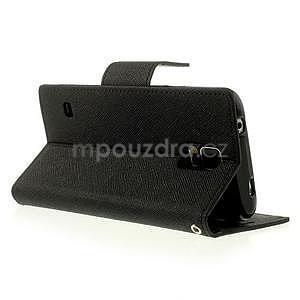 Diary peňaženkové puzdro pre Samsung Galaxy S5 - čierne - 3