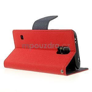 Diary peňaženkové puzdro pre Samsung Galaxy S5 - červené - 3