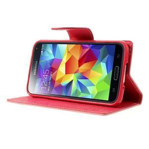 Diary peněženkové pouzdro na Samsung Galaxy S5 - růžové - 3